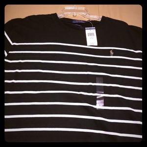 Ralph Lauren Polo Black & White stripe shirt.